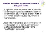what do you mean by position vested in the grade level
