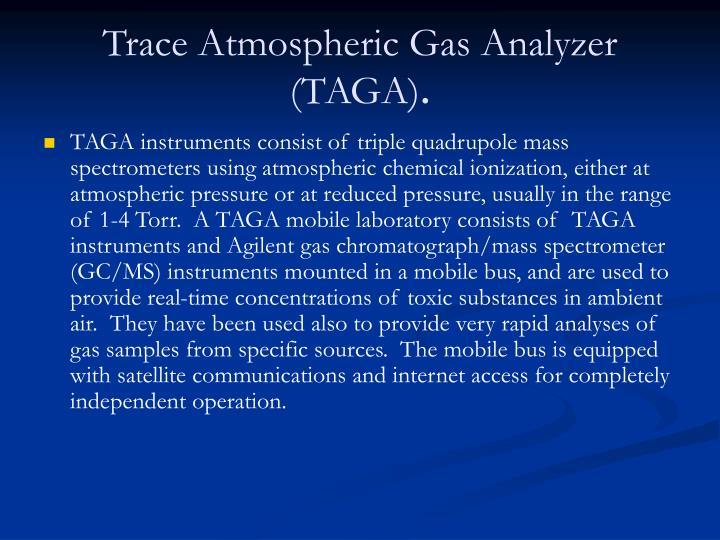 Trace Atmospheric Gas Analyzer (TAGA)