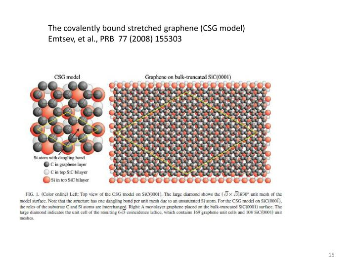 The covalently bound stretched graphene (CSG model)