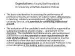 expectations faculty staff handbook iii university at buffalo academic policies1