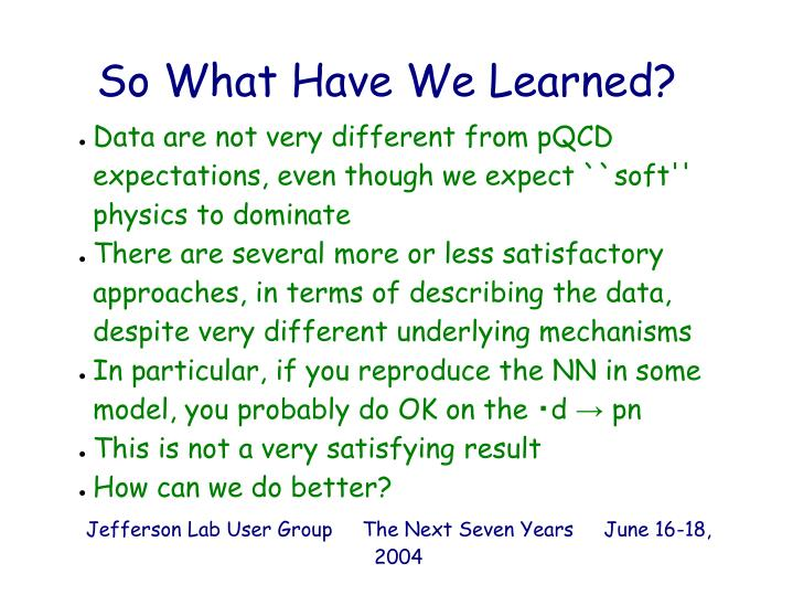Data are not very different from pQCD expectations, even though we expect ``soft'' physics to dominate