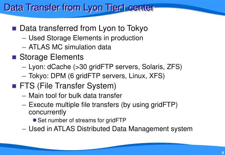 Data Transfer from Lyon Tier1 center