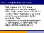 web clipping and pqa the details