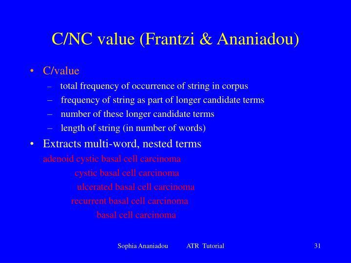 C/NC value (Frantzi & Ananiadou)