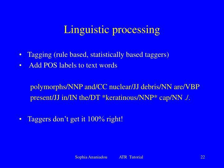 Linguistic processing