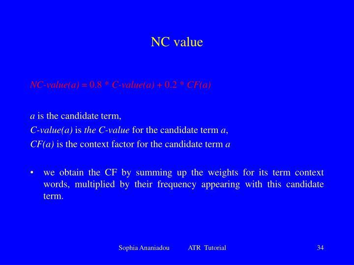 NC value
