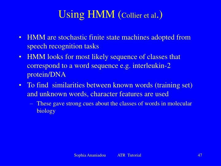 Using HMM (