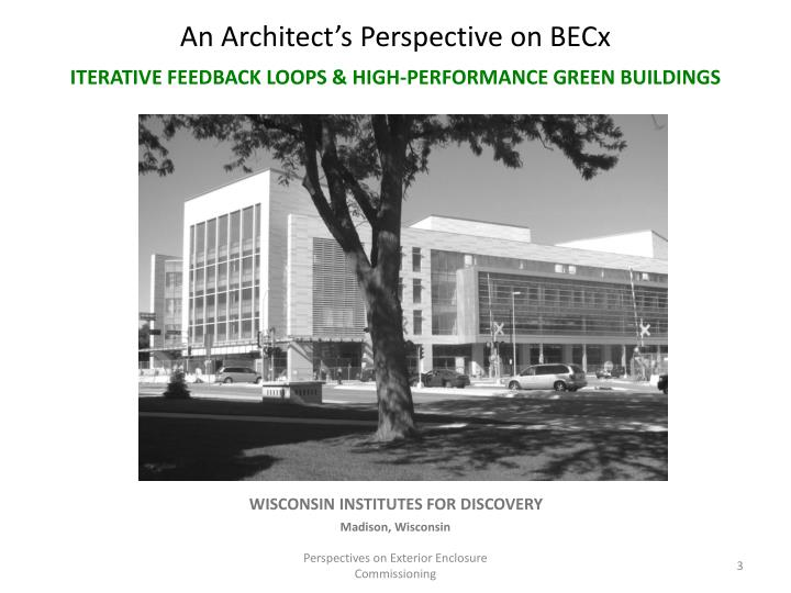 An Architect's Perspective on BECx