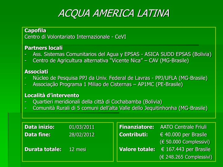 acqua america latina