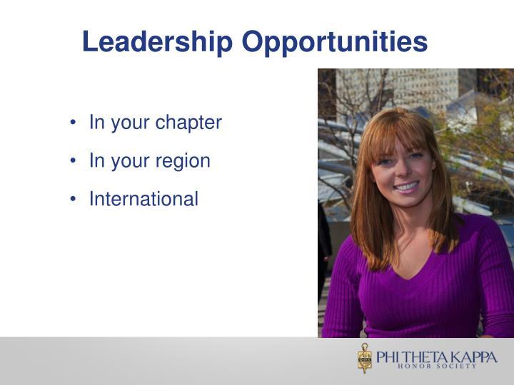 Leadership Opportunities