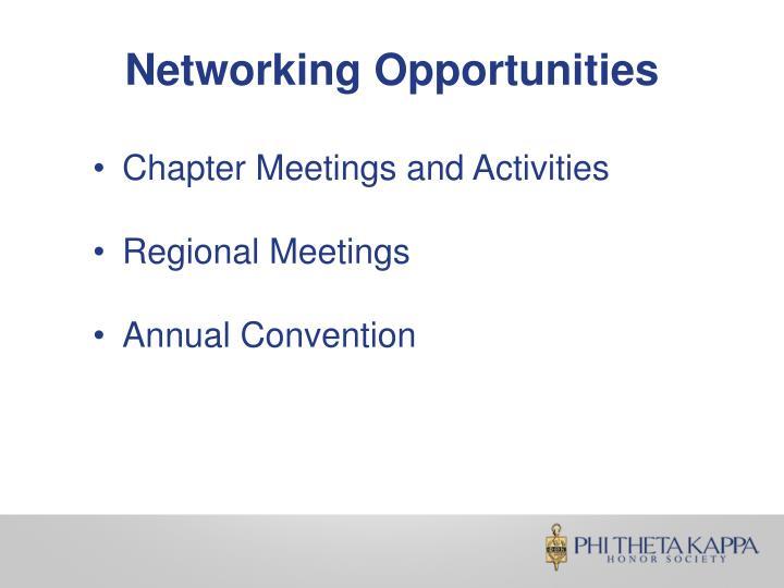 Networking Opportunities