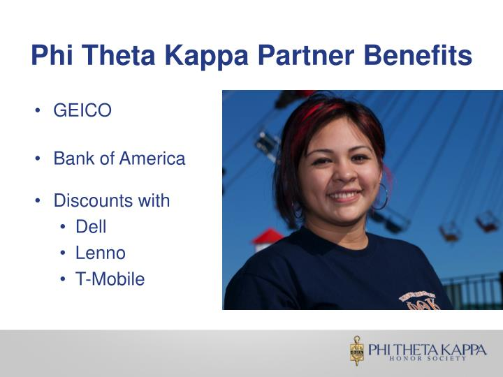 Phi Theta Kappa Partner Benefits