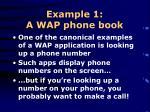 example 1 a wap phone book