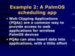 example 2 a palmos scheduling app