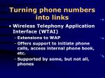 turning phone numbers into links