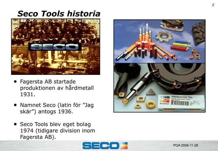 Seco Tools historia