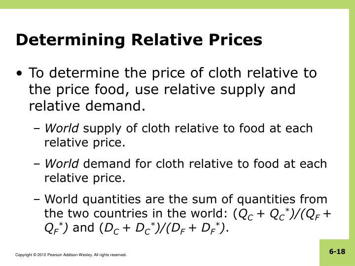 Determining Relative Prices