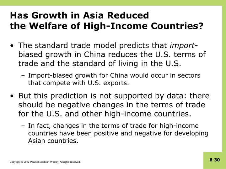Has Growth in Asia Reduced