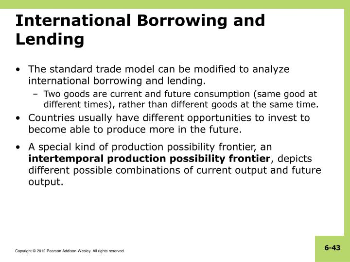 International Borrowing and Lending