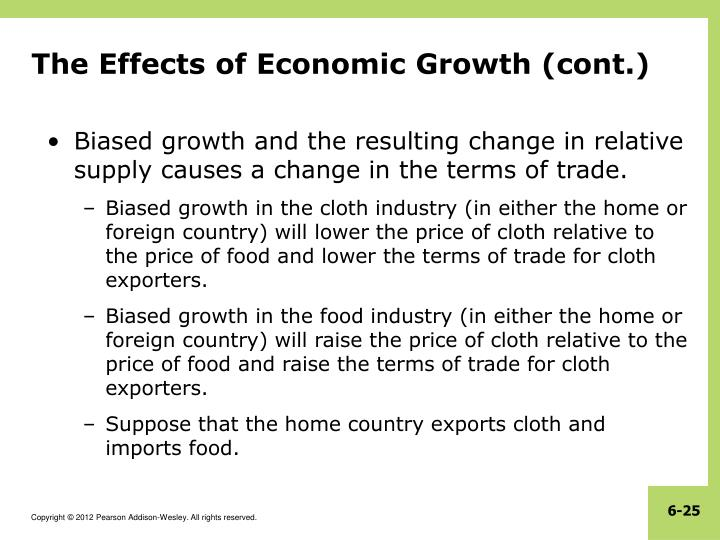 The Effects of Economic Growth (cont.)