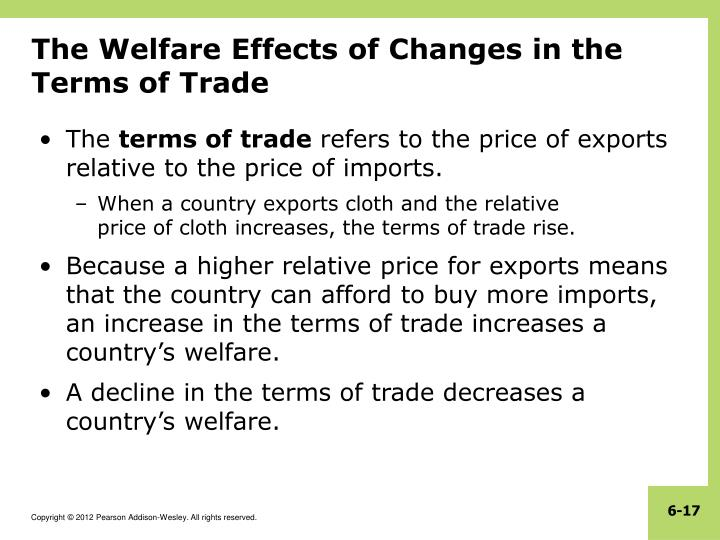 The Welfare Effects of Changes in the Terms of Trade