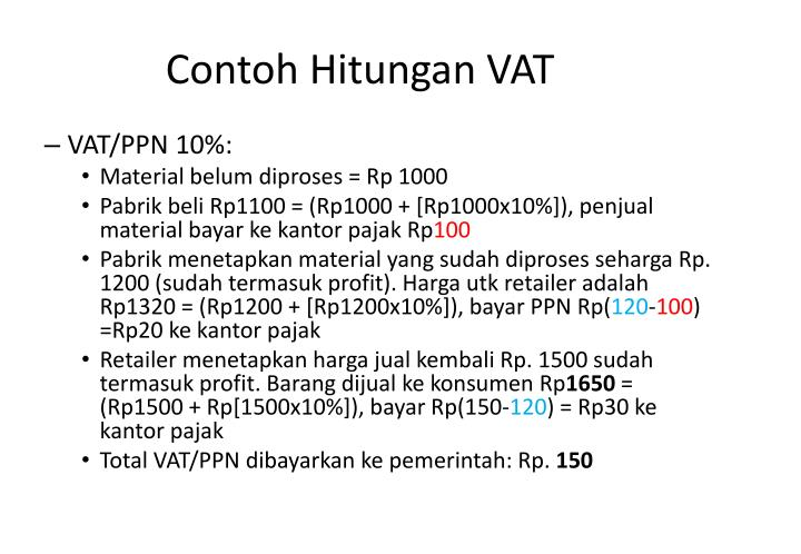 Contoh Hitungan VAT