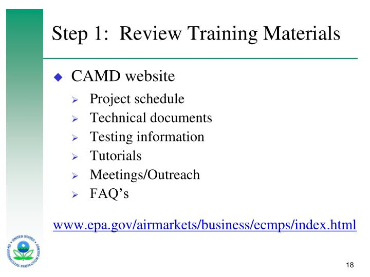 Step 1:  Review Training Materials