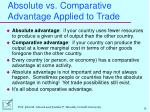 absolute vs comparative advantage applied to trade