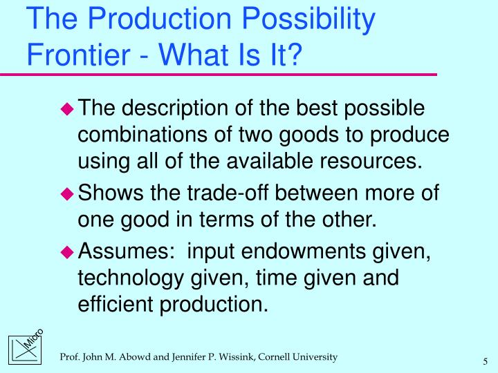 The Production Possibility Frontier - What Is It?