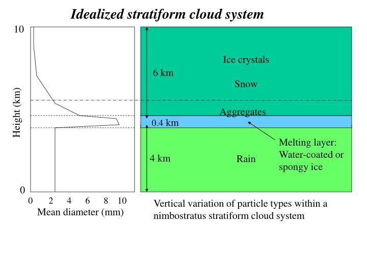 Idealized stratiform cloud system