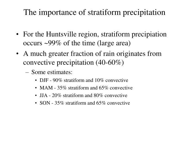 The importance of stratiform precipitation