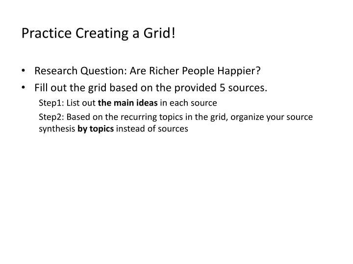 Practice Creating a Grid!
