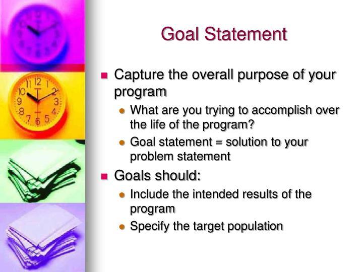 Goal Statement