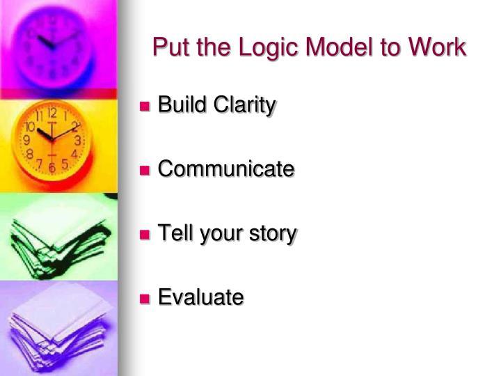 Put the Logic Model to Work