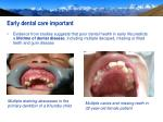 early dental care important