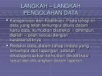 langkah langkah pengolahan data