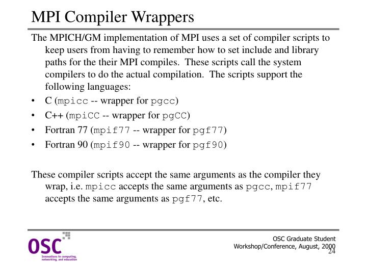 MPI Compiler Wrappers