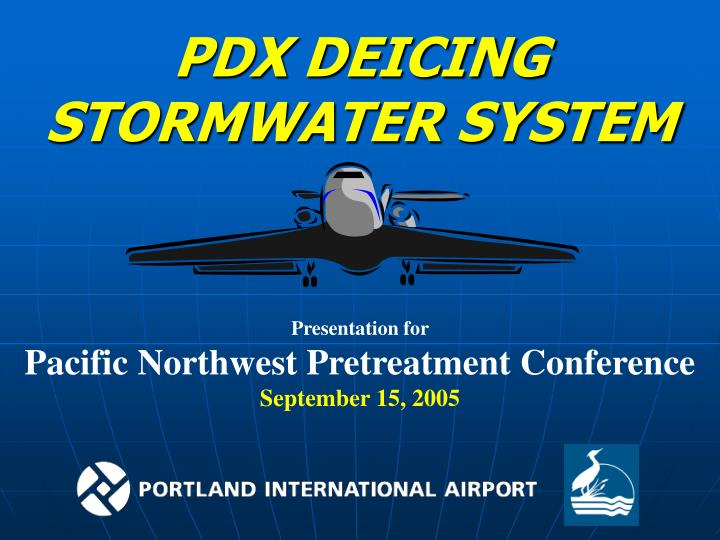 PDX DEICING STORMWATER SYSTEM