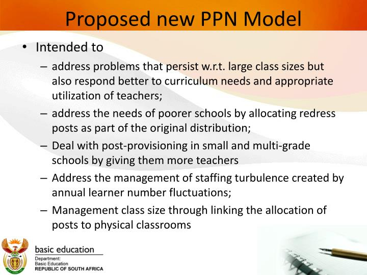 Proposed new PPN Model