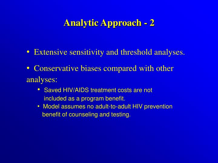 Analytic Approach - 2