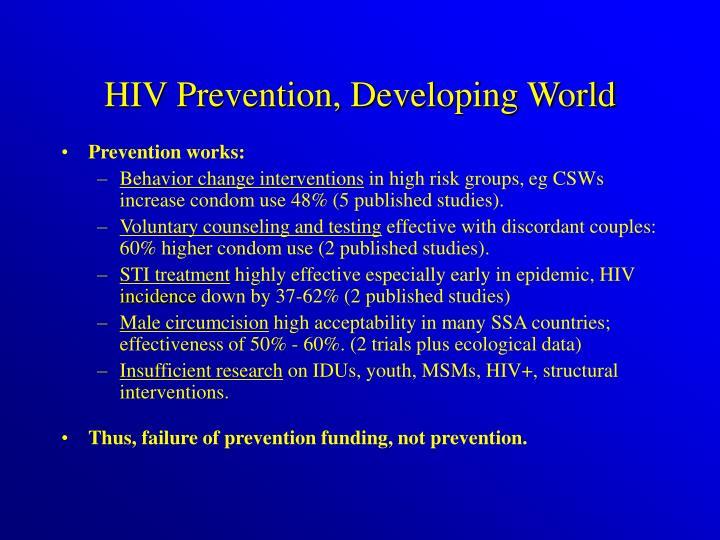 HIV Prevention, Developing World