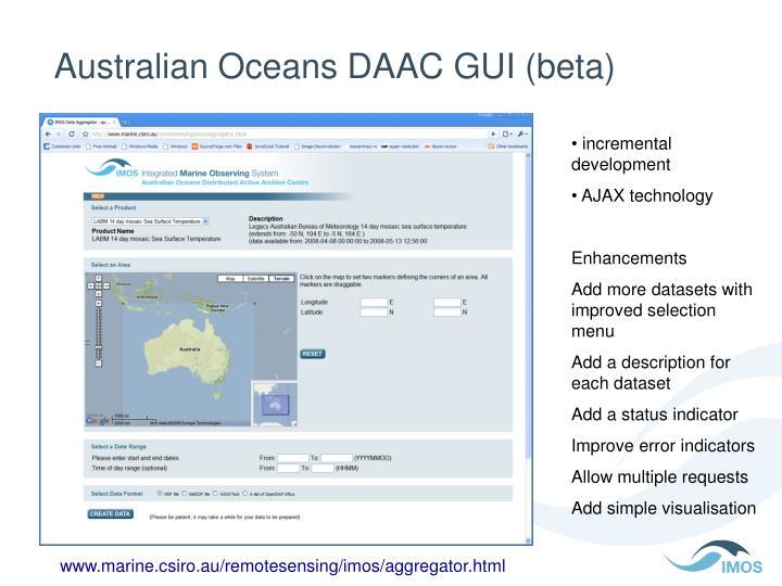 Australian Oceans DAAC GUI (beta)