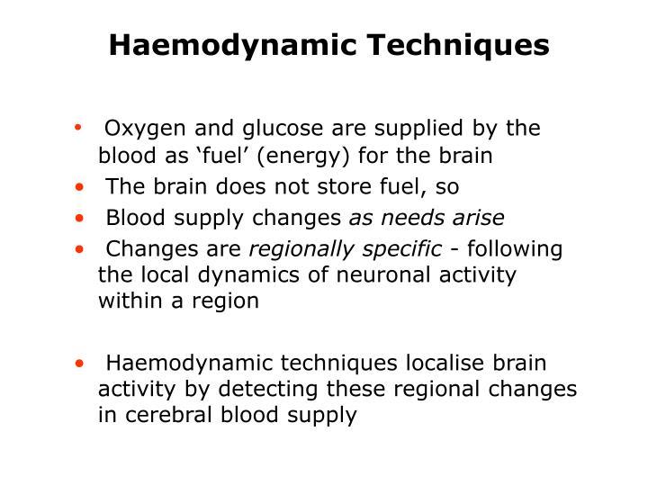 Haemodynamic Techniques