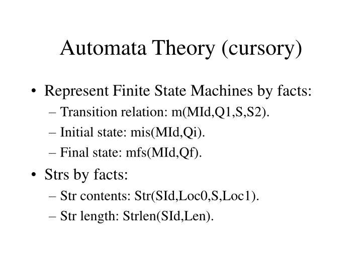 Automata Theory (cursory)