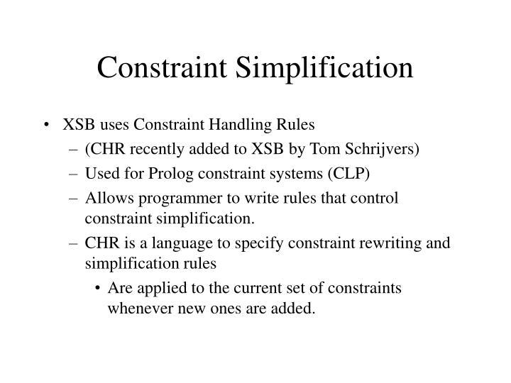 Constraint Simplification