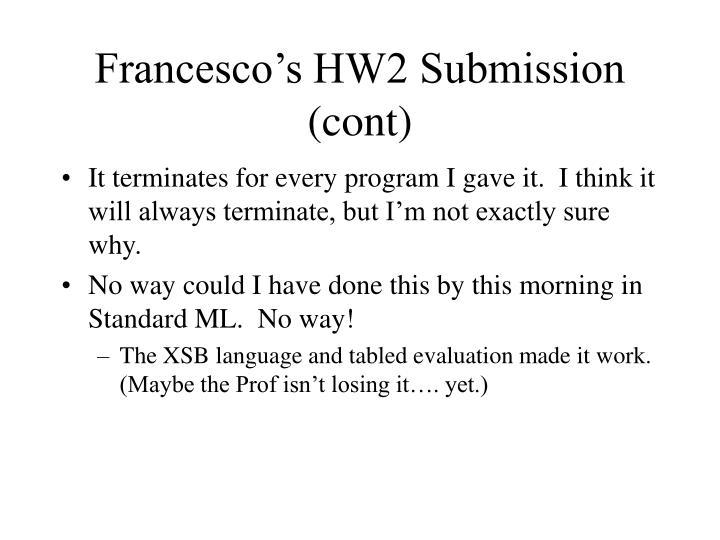 Francesco's HW2 Submission (cont)