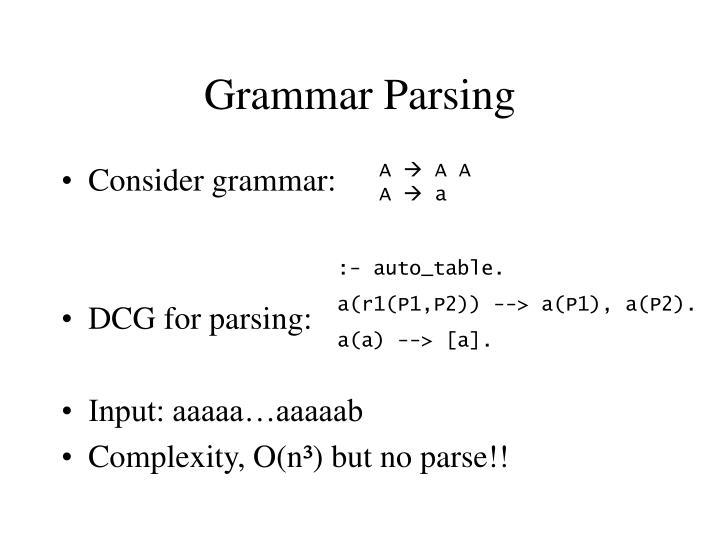 Grammar Parsing
