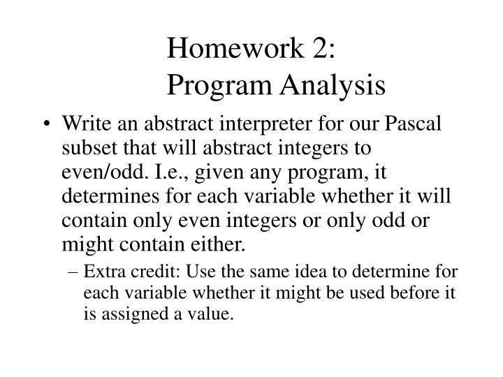 Homework 2: