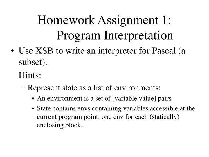 Homework Assignment 1: