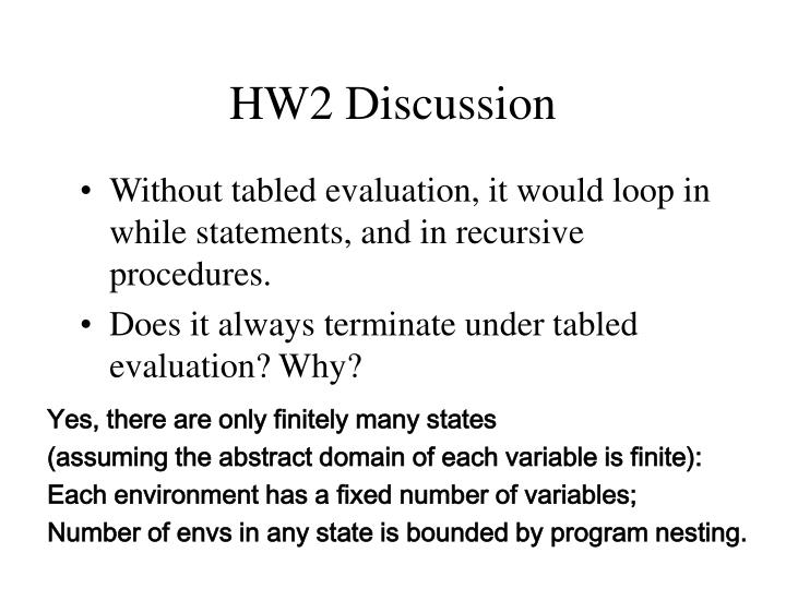 HW2 Discussion